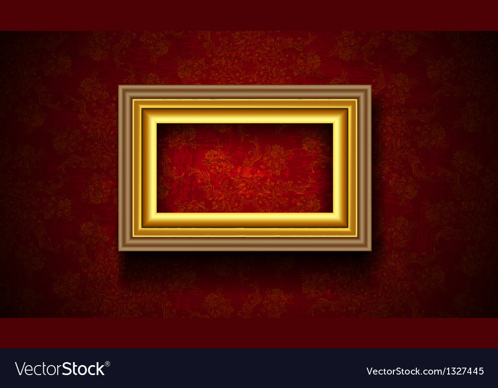 Picture frame on grunge wall vector | Price: 1 Credit (USD $1)