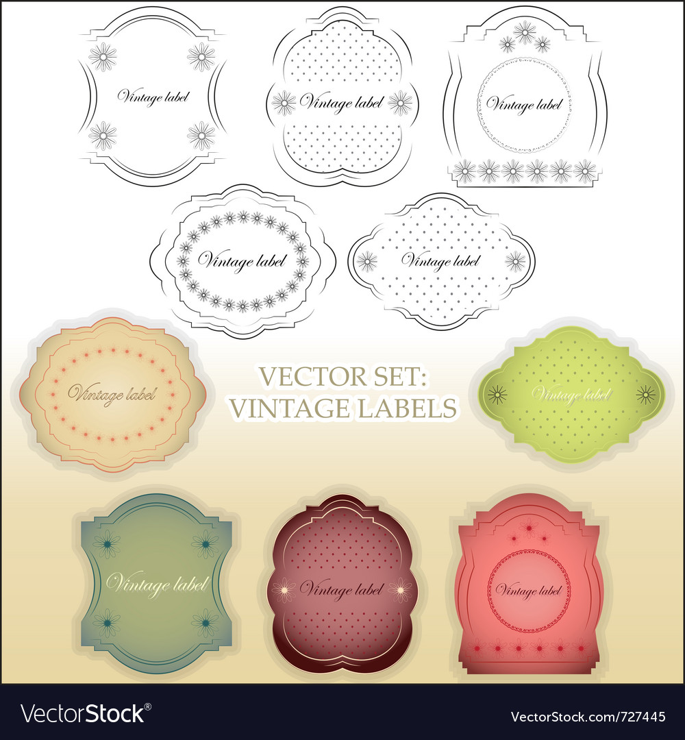Vintage labels set vector   Price: 3 Credit (USD $3)