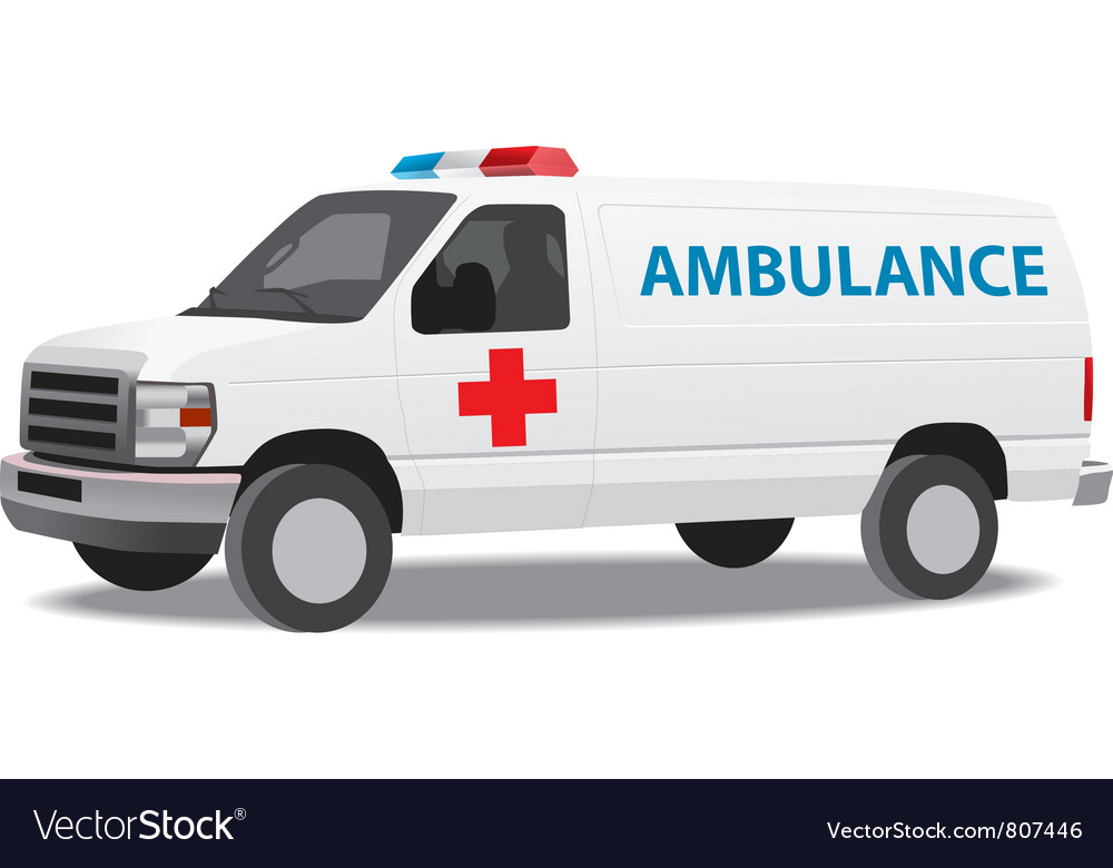 Ambulance van vector | Price: 3 Credit (USD $3)