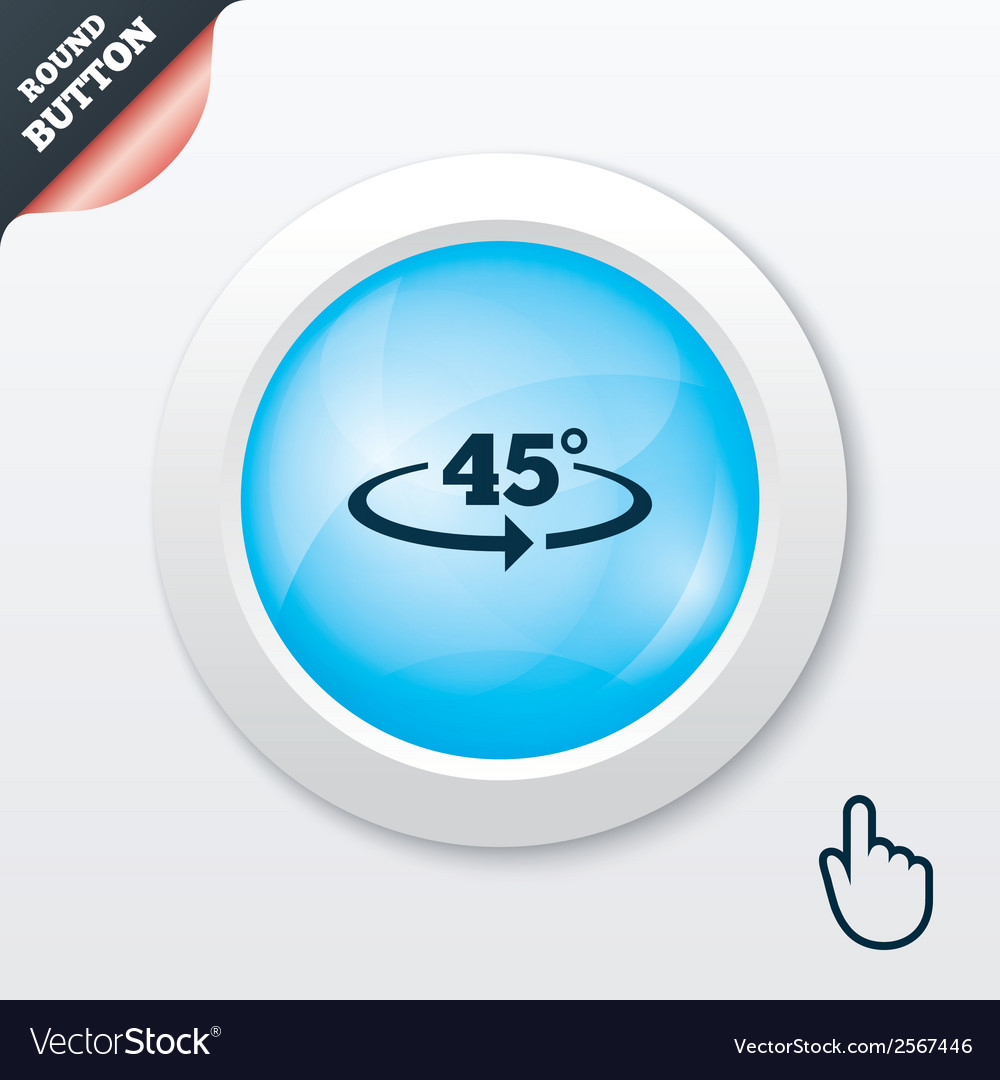 Angle 45 degrees sign icon geometry math symbol vector | Price: 1 Credit (USD $1)