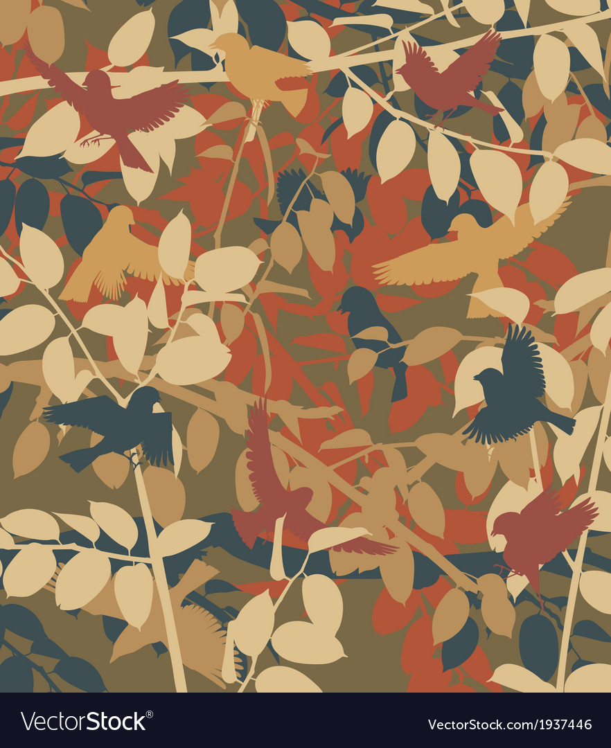 Bush birds vector | Price: 1 Credit (USD $1)