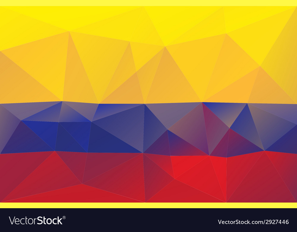 Colombian flag vector | Price: 1 Credit (USD $1)