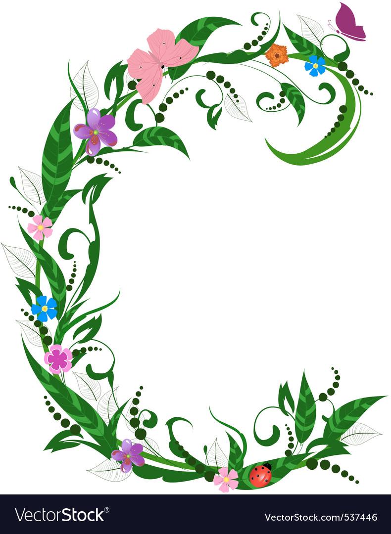 Flower letter vector | Price: 1 Credit (USD $1)