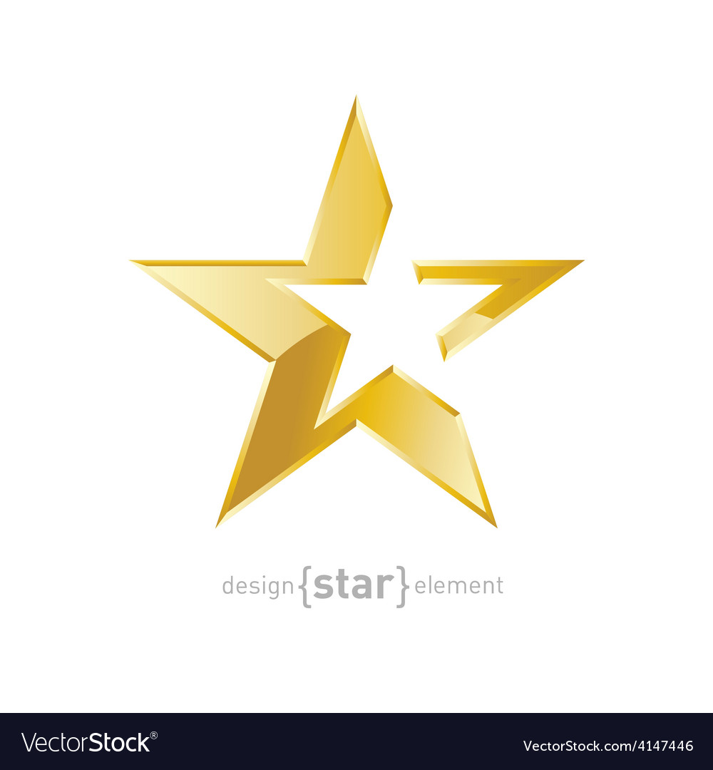 Gold abstract star on white background vector   Price: 1 Credit (USD $1)