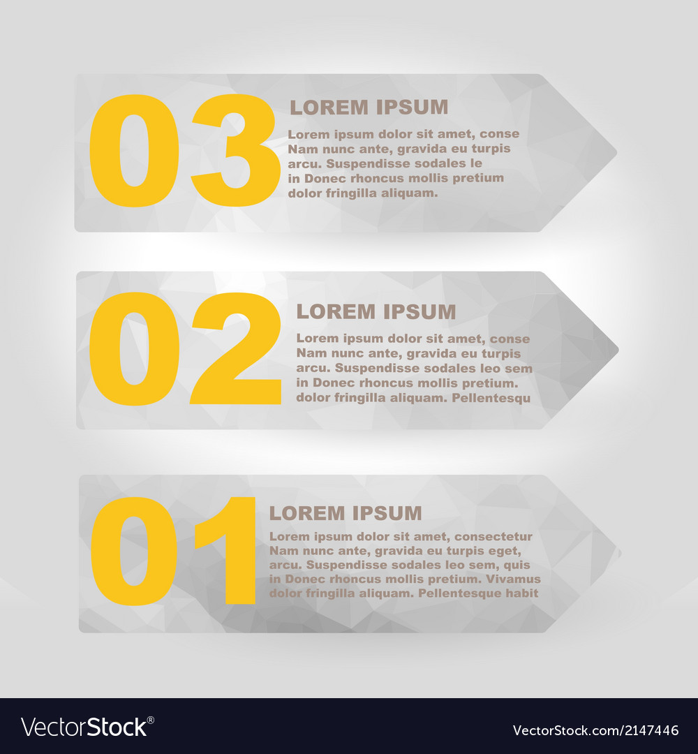 Label set with infographic steps vector | Price: 1 Credit (USD $1)
