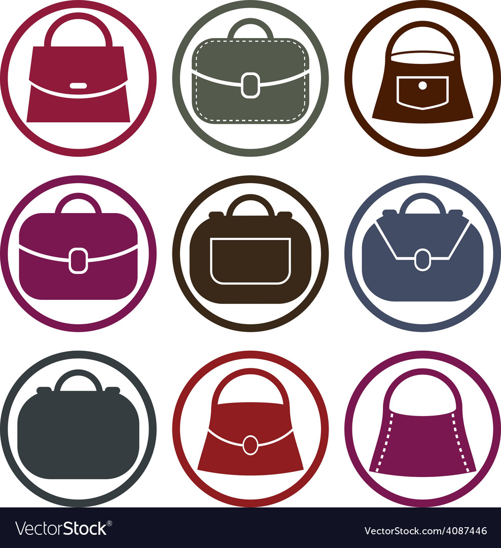 Purse icons vector | Price: 1 Credit (USD $1)
