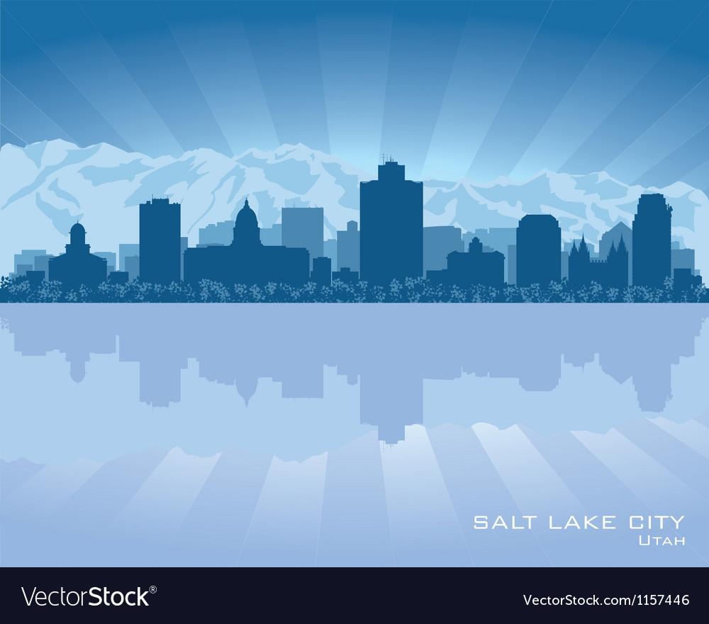 Salt lake city utah skyline city silhouette vector | Price: 1 Credit (USD $1)