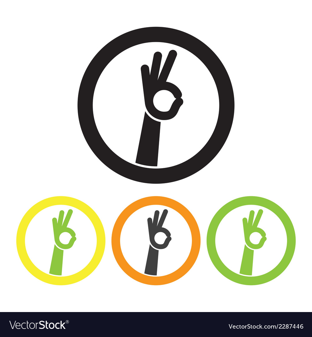 Sign okay vector | Price: 1 Credit (USD $1)