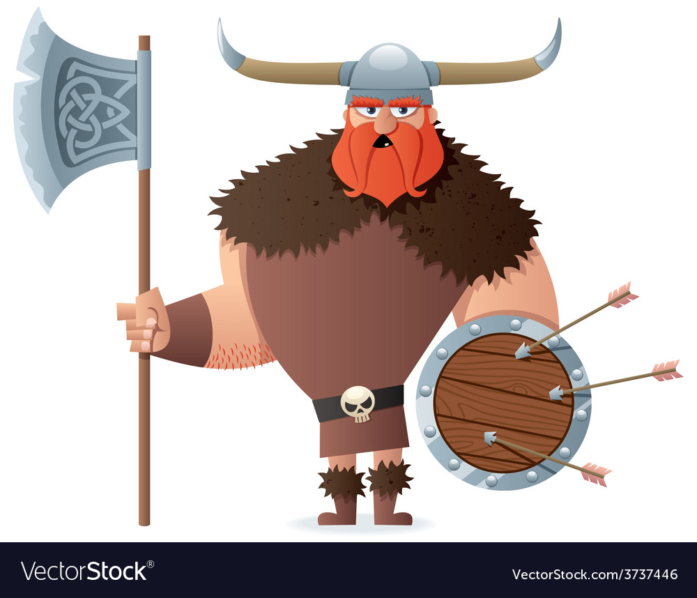 Viking on white vector | Price: 3 Credit (USD $3)