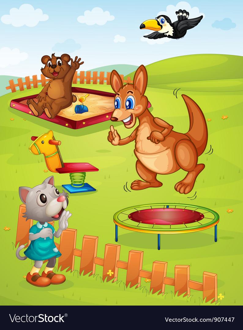 Animal playground vector | Price: 3 Credit (USD $3)