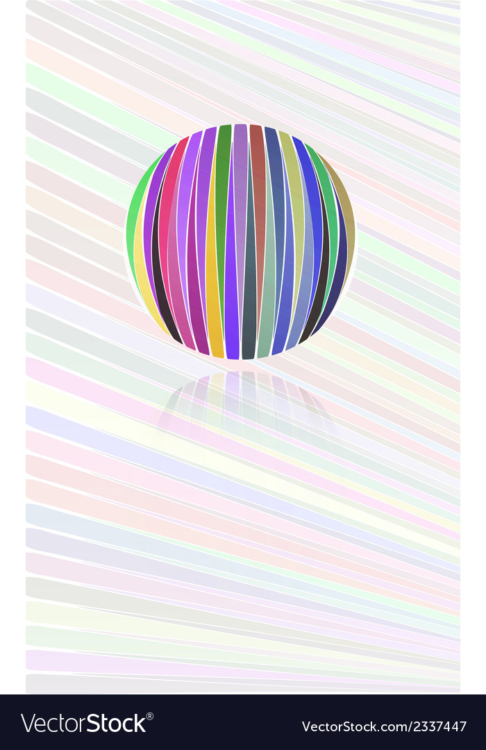 Background with color lines and color ball vector | Price: 1 Credit (USD $1)