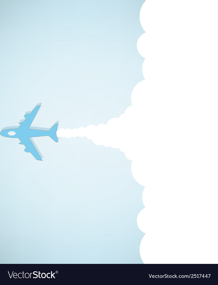 Cartoon plane launch vector | Price: 1 Credit (USD $1)
