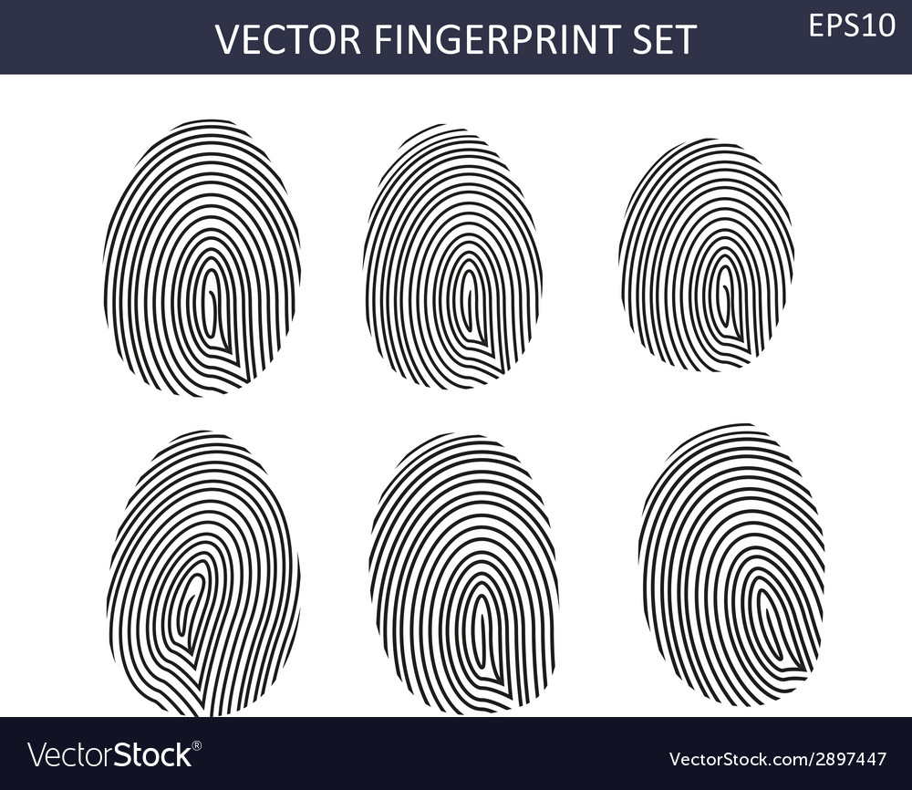 Fingerprints set vector | Price: 1 Credit (USD $1)