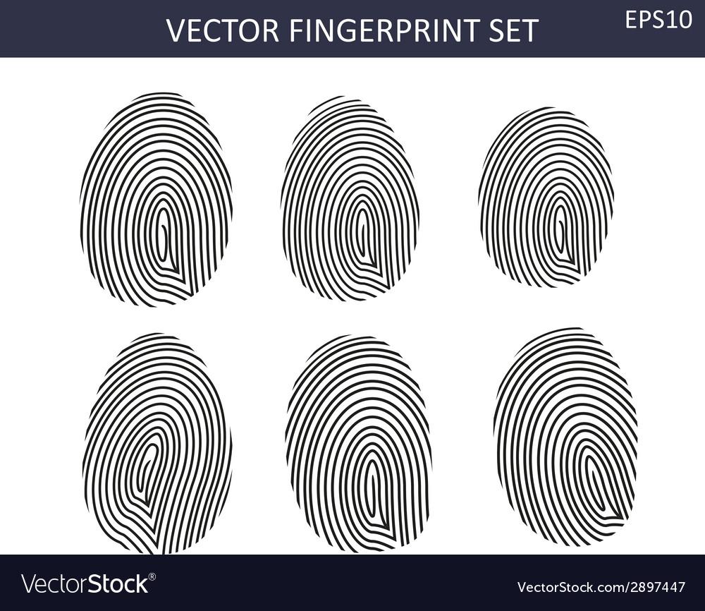 Fingerprints set vector   Price: 1 Credit (USD $1)