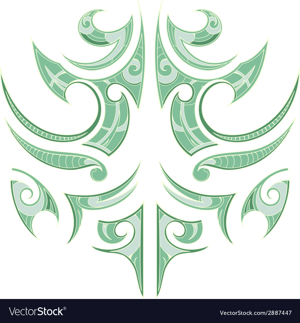 Maori tribal tattoo vector | Price: 1 Credit (USD $1)