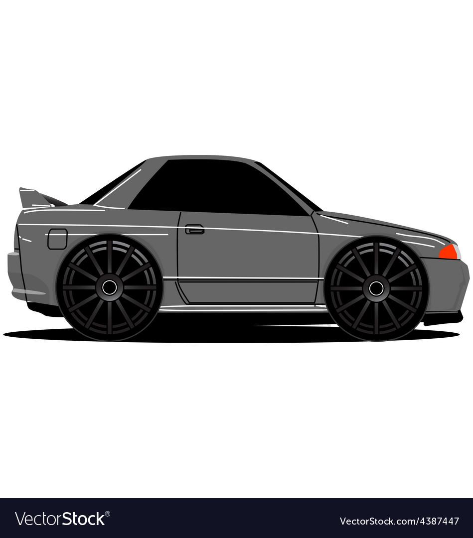 Nissan skyline r32 side 01b vector | Price: 1 Credit (USD $1)
