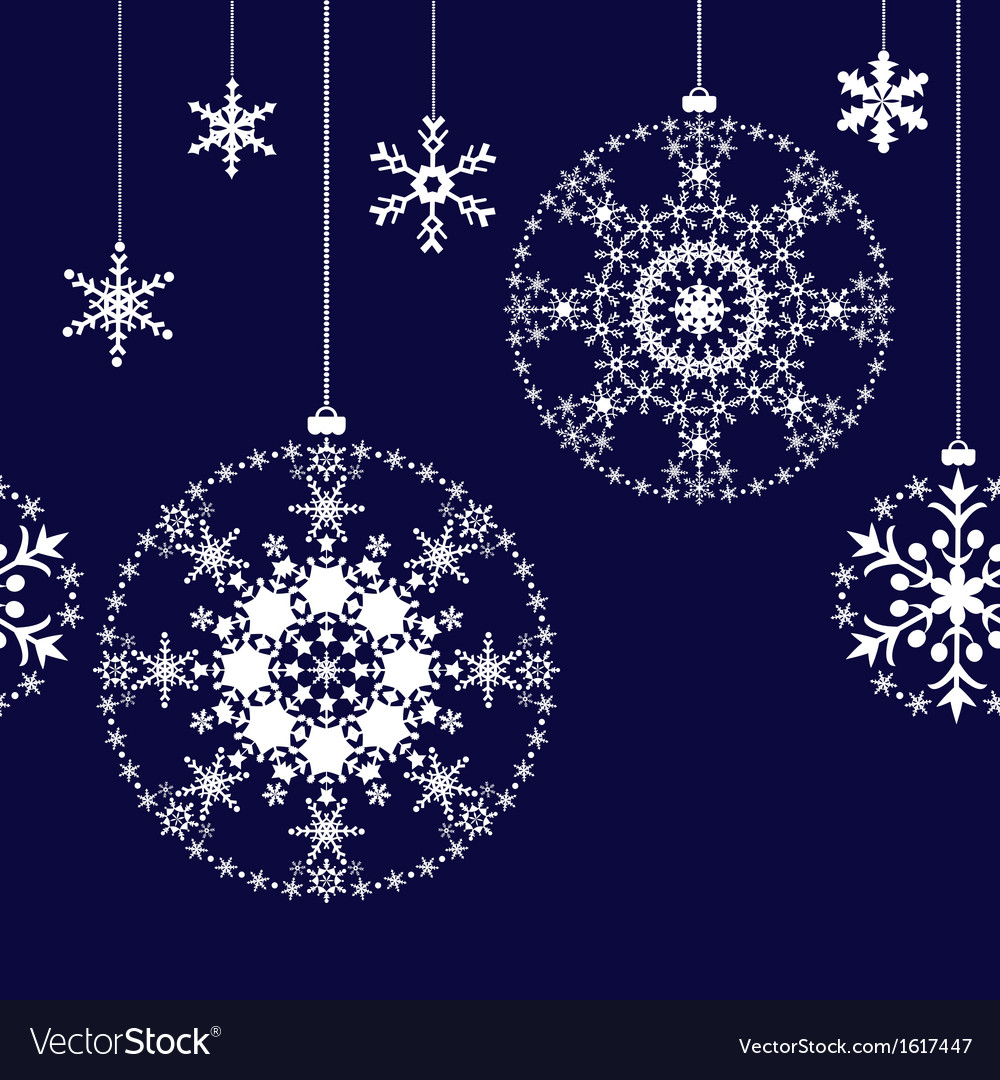 Seamless christmas balls background vector | Price: 1 Credit (USD $1)