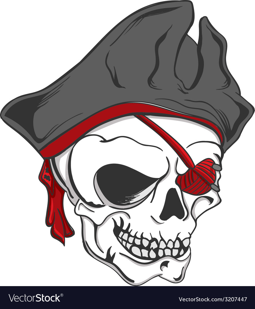 Skull pirate vector | Price: 1 Credit (USD $1)