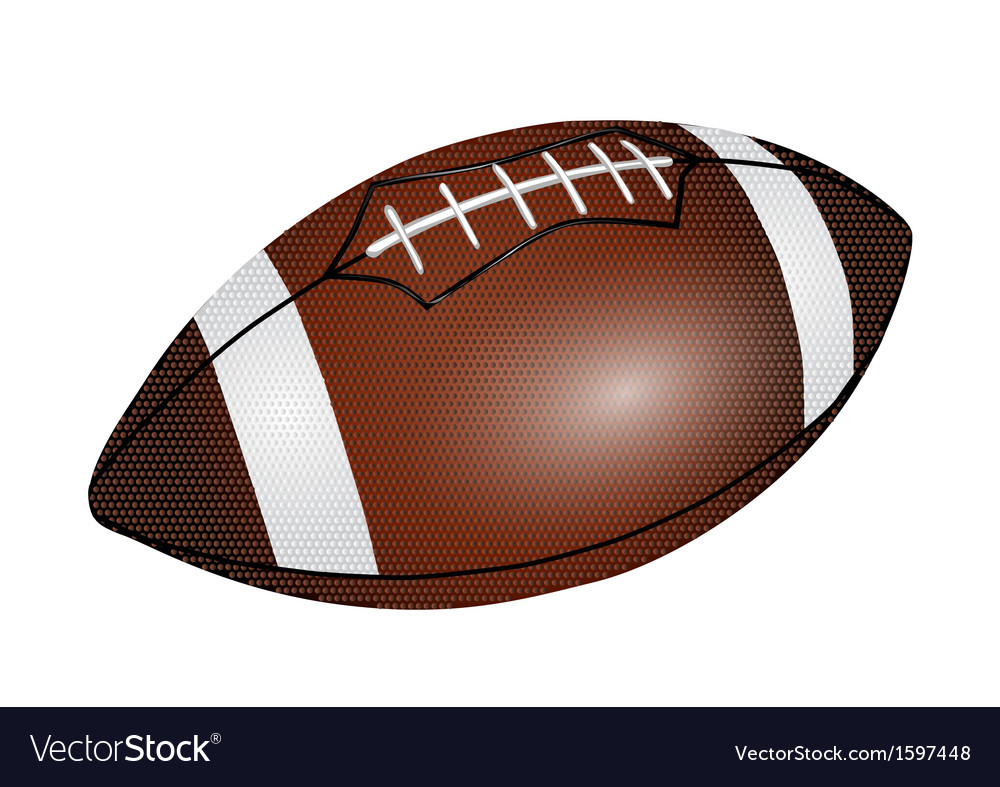 American football ball vector | Price: 1 Credit (USD $1)