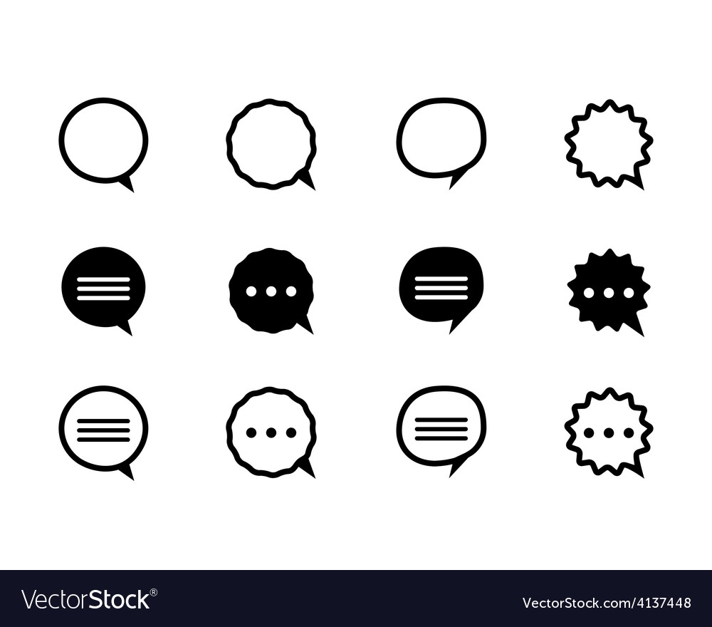 Black and line speech bubble vector | Price: 1 Credit (USD $1)