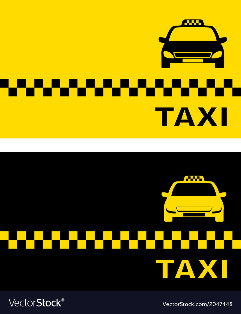 Black and yellow taxi card vector | Price: 1 Credit (USD $1)