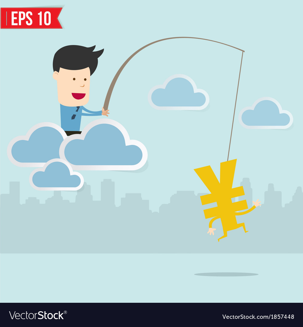 Businessman fishing concept vector   Price: 1 Credit (USD $1)