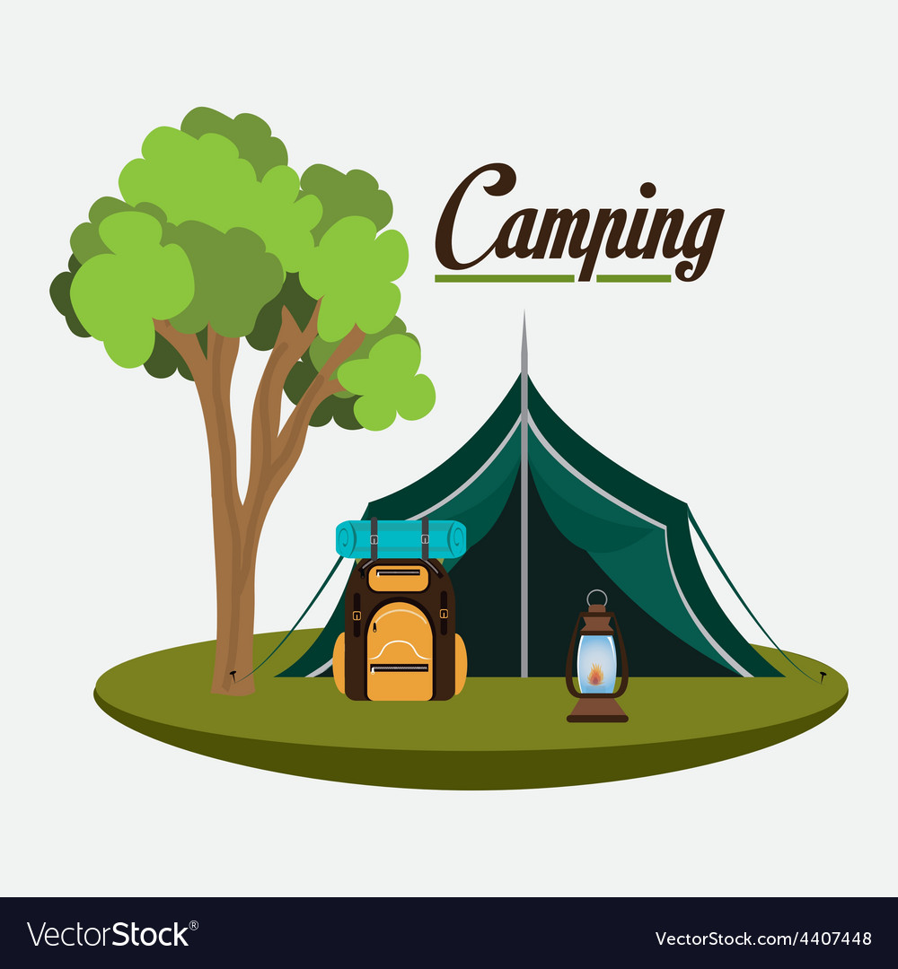 Camping design vector | Price: 1 Credit (USD $1)