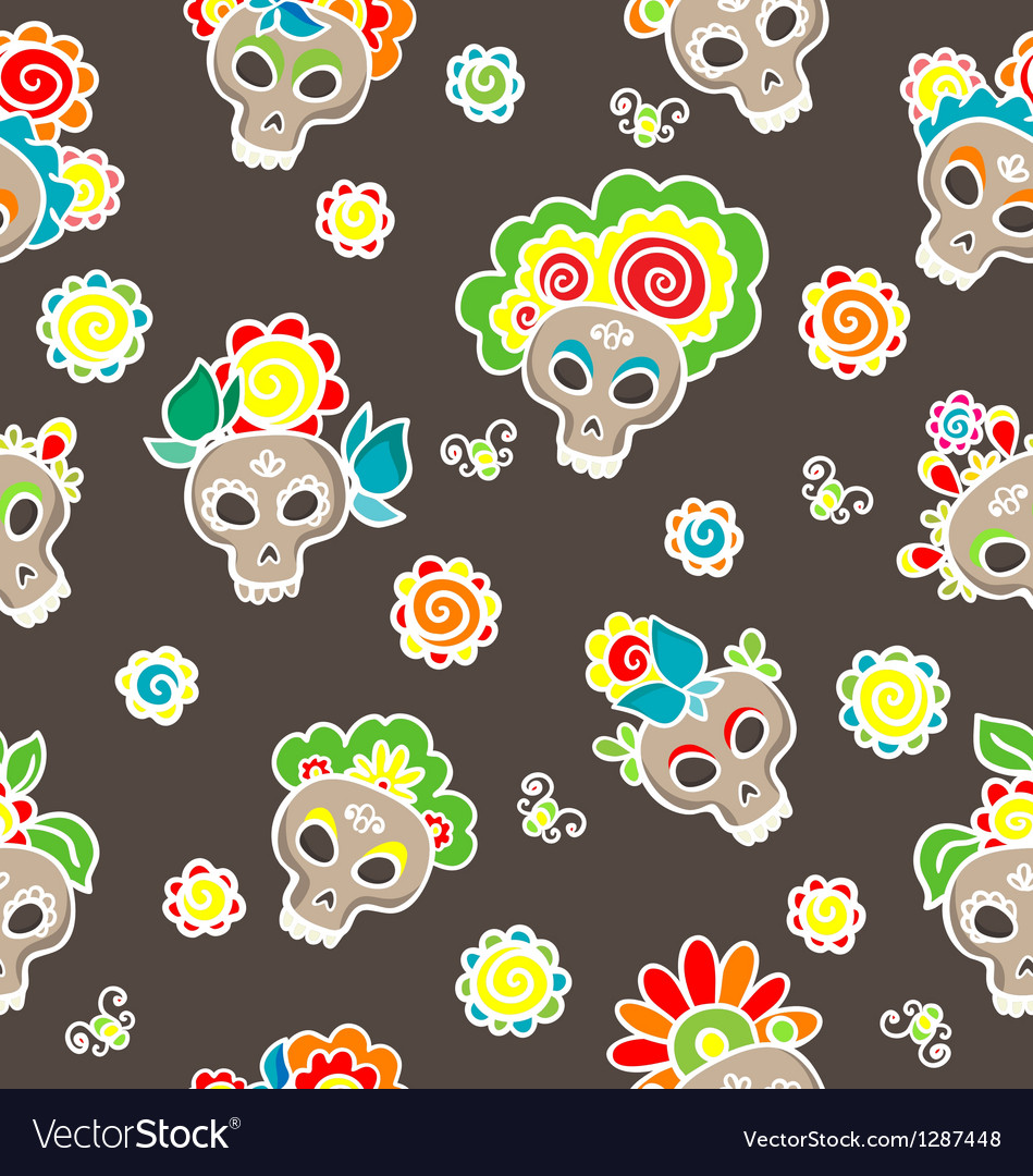 Catrinas pattern vector | Price: 1 Credit (USD $1)