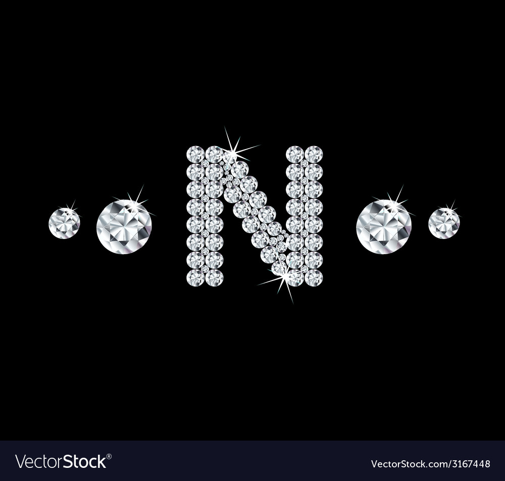 Diamond alphabetic letter n vector | Price: 1 Credit (USD $1)