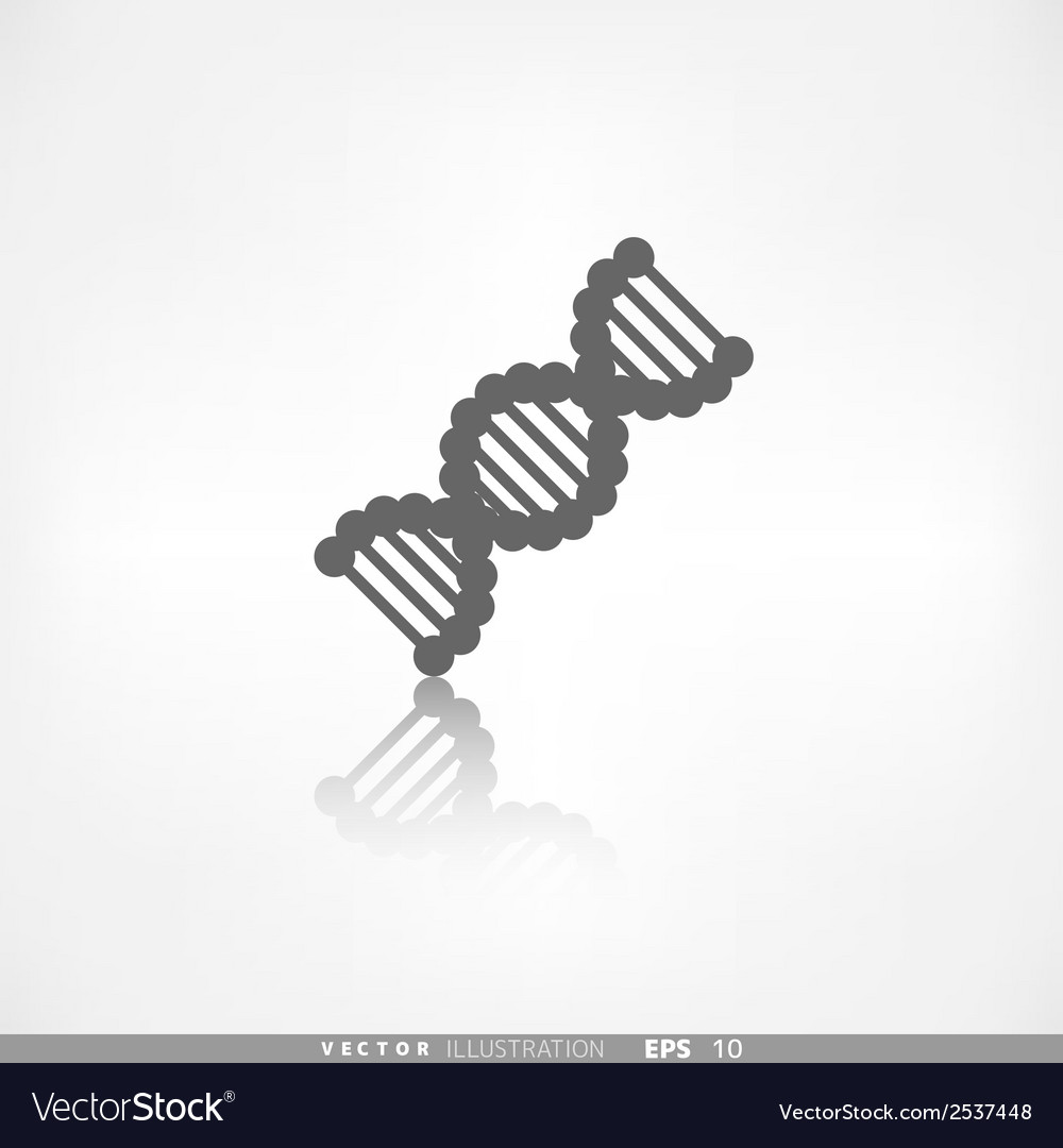 Dna iconmedical symbol vector | Price: 1 Credit (USD $1)