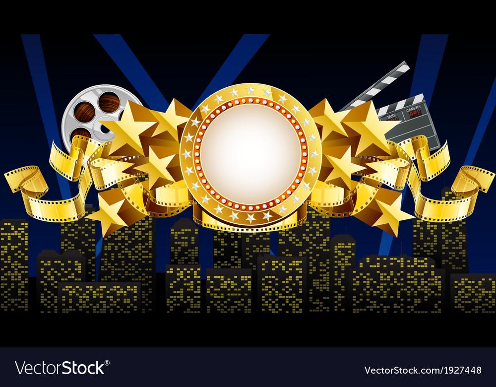 Golden movie theme vector | Price: 1 Credit (USD $1)
