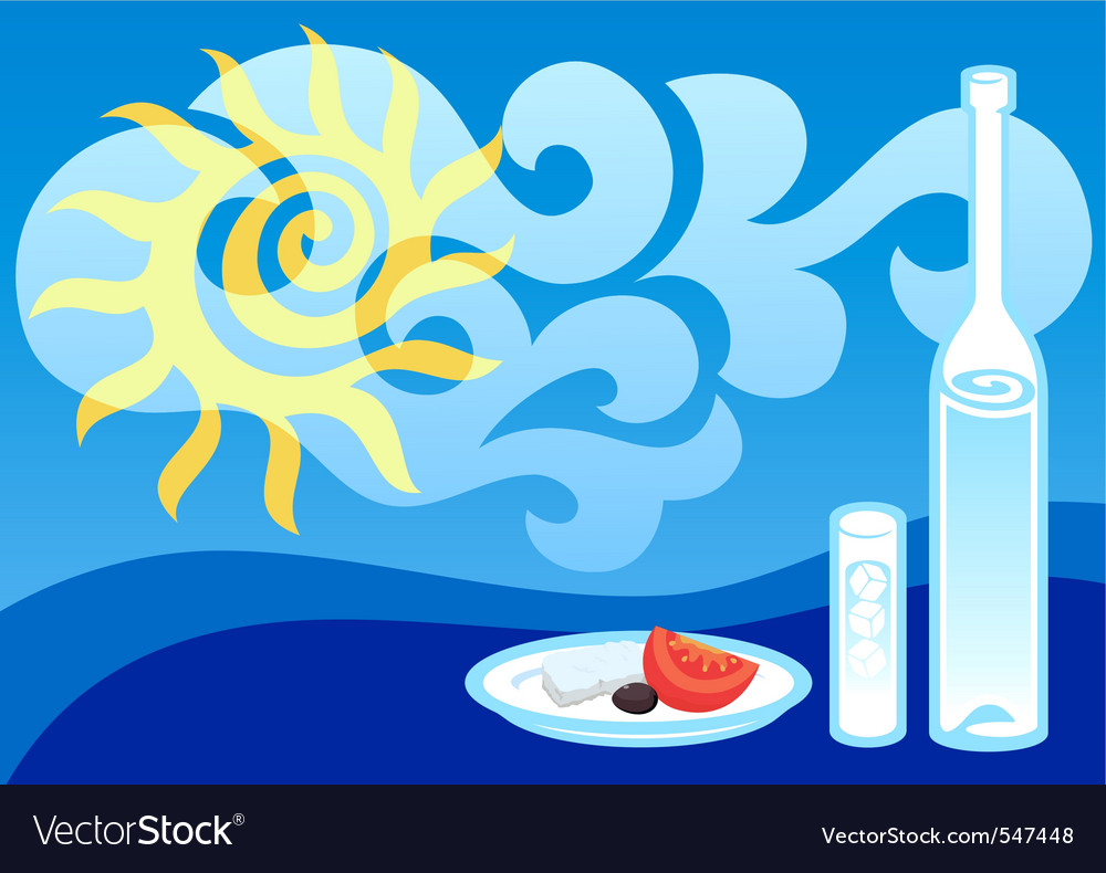 Greek summer vector | Price: 1 Credit (USD $1)