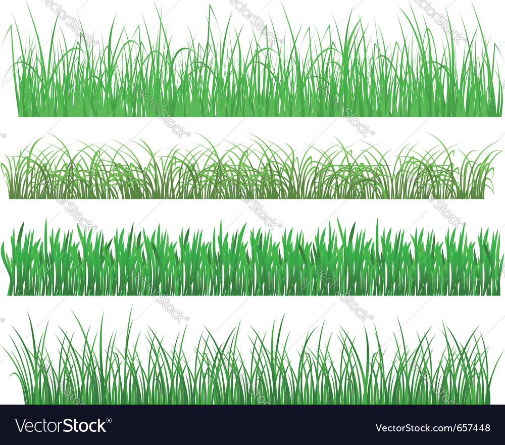 Green grass and plant elements vector | Price: 1 Credit (USD $1)