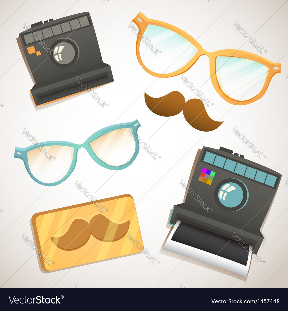 Hipster trendy items vintage collection vector | Price: 1 Credit (USD $1)