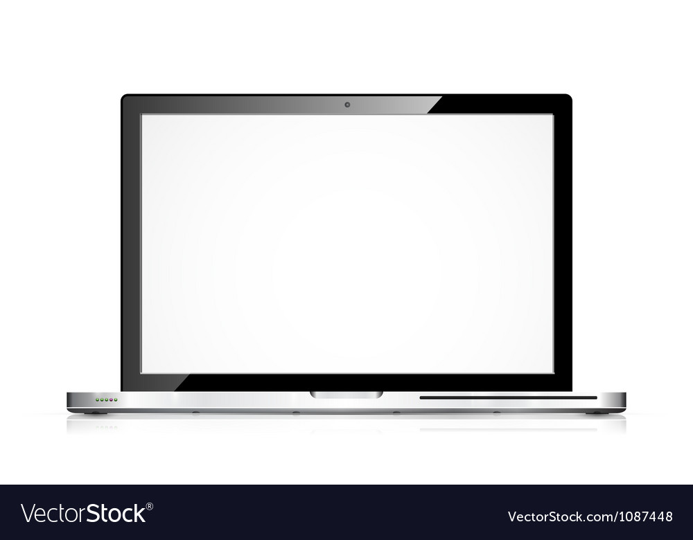 Modern laptop isolated on white vector | Price: 1 Credit (USD $1)