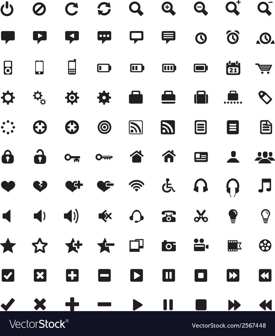 Set of universal icons 4 vector | Price: 1 Credit (USD $1)