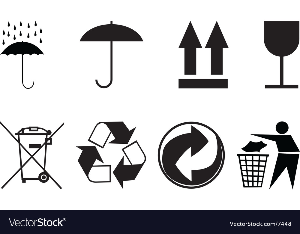 Symbols for packing subjects vector | Price: 1 Credit (USD $1)