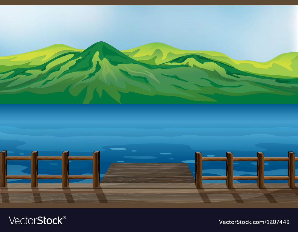 A blue calm sea vector | Price: 1 Credit (USD $1)