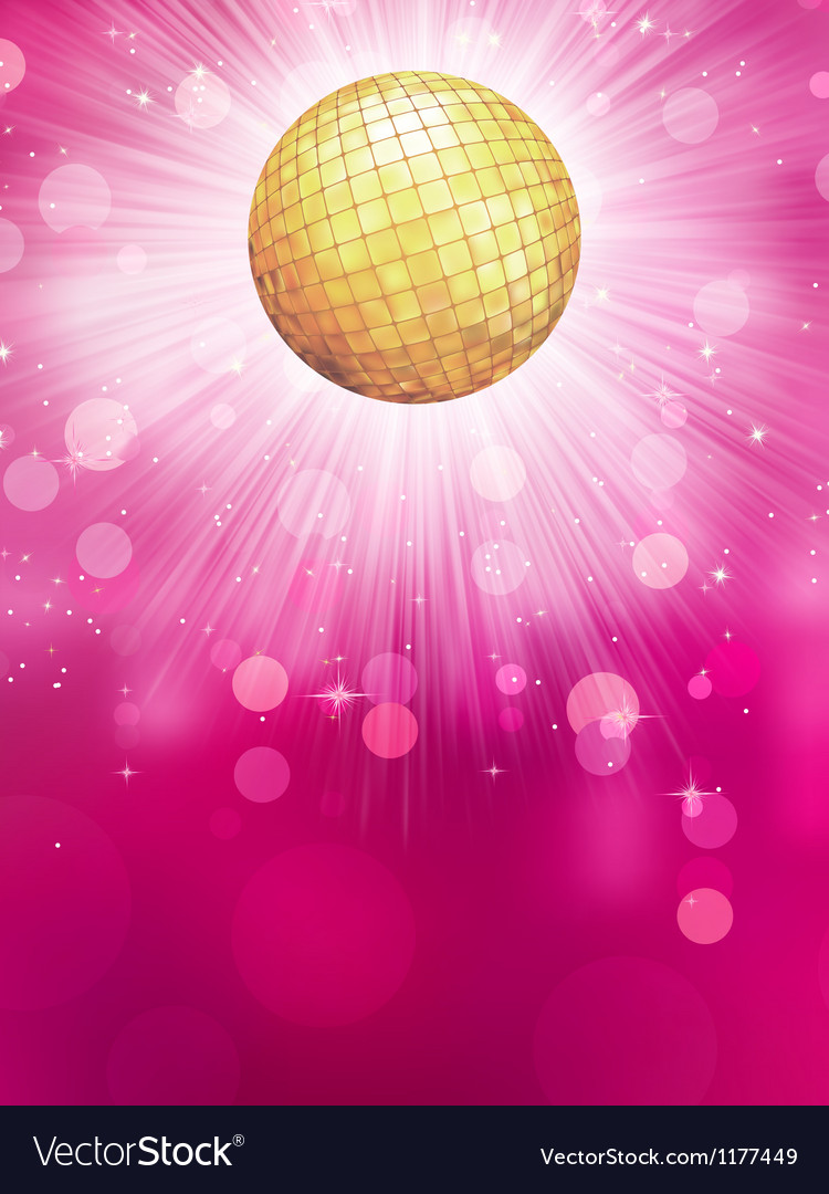 Abstract golden with disco ball eps 10 vector | Price: 1 Credit (USD $1)