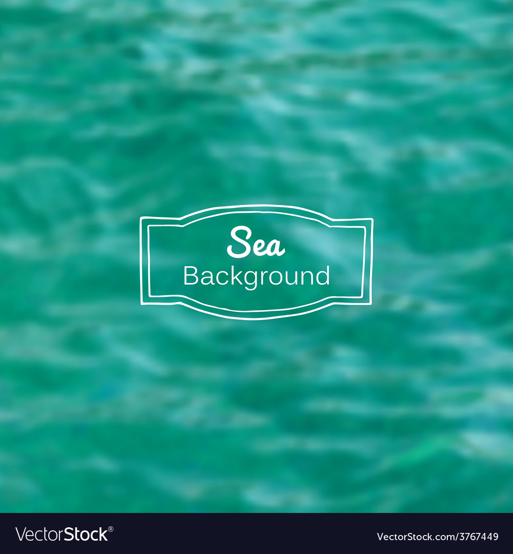 Blurred nature sea blue background vector | Price: 1 Credit (USD $1)