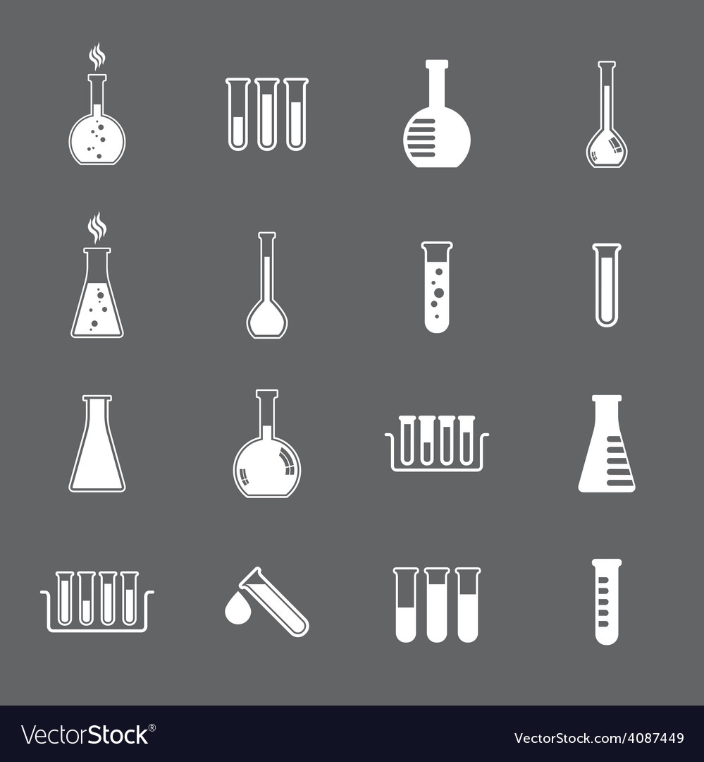 Chemical and medical flask icons set vector   Price: 1 Credit (USD $1)