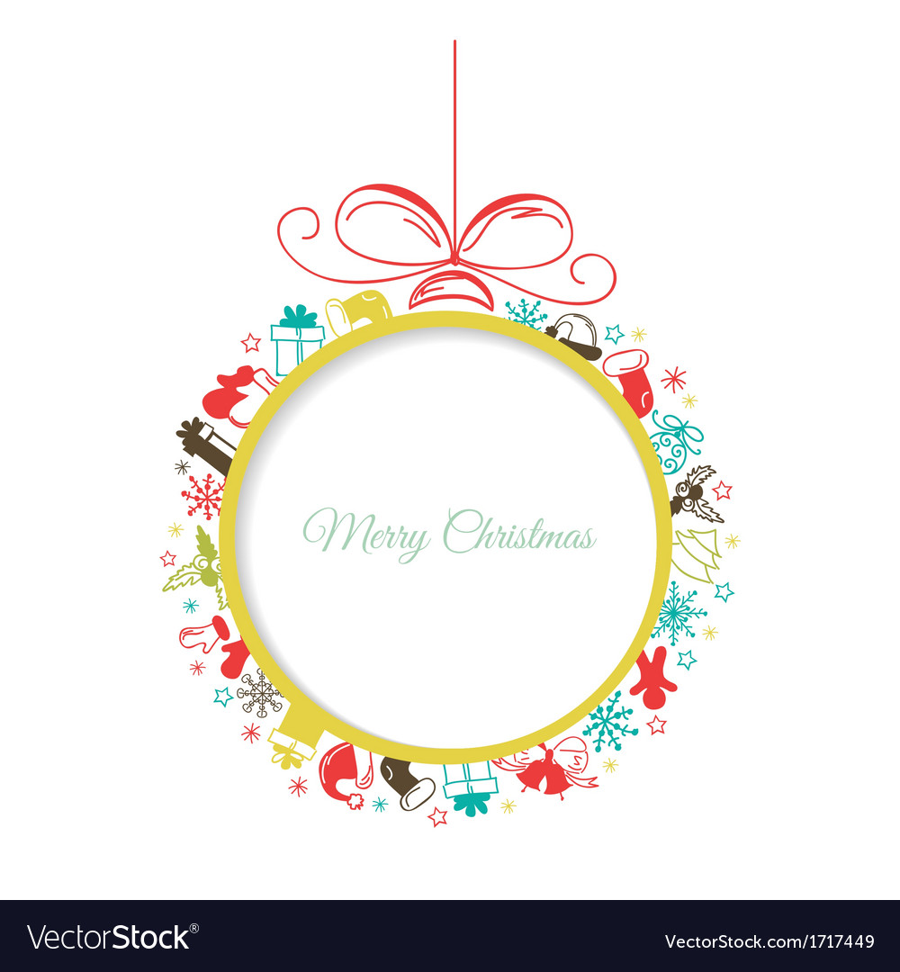 Christmas ball with space for text vector | Price: 1 Credit (USD $1)