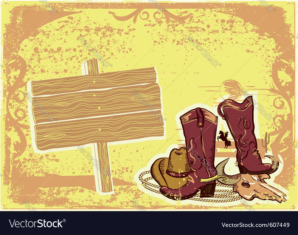 Cowboy elements vector | Price: 1 Credit (USD $1)