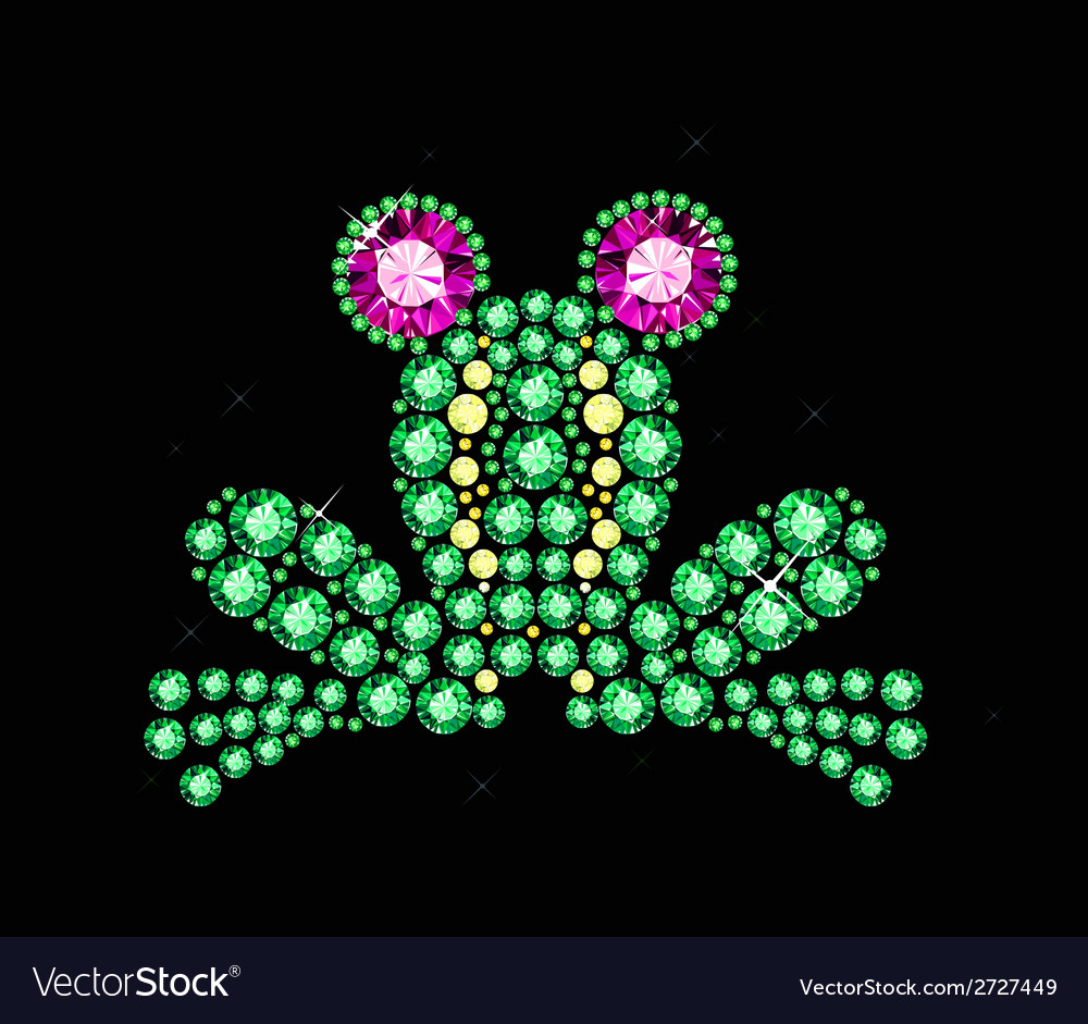 Gem frog vector | Price: 1 Credit (USD $1)