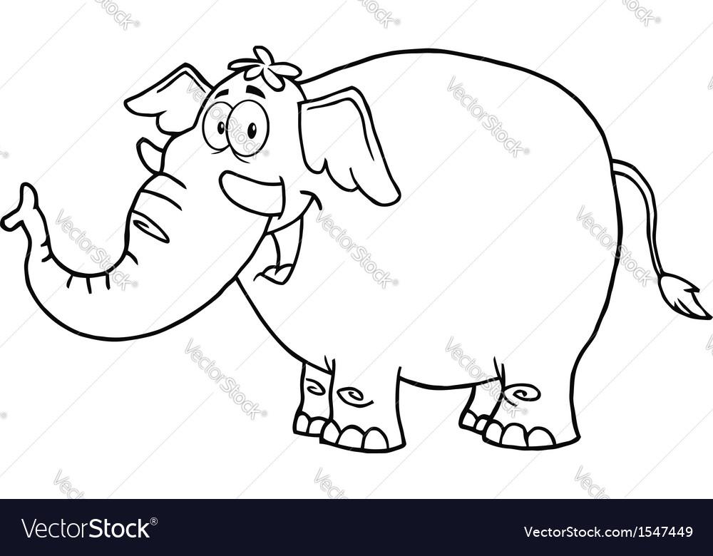 Happy elephant vector