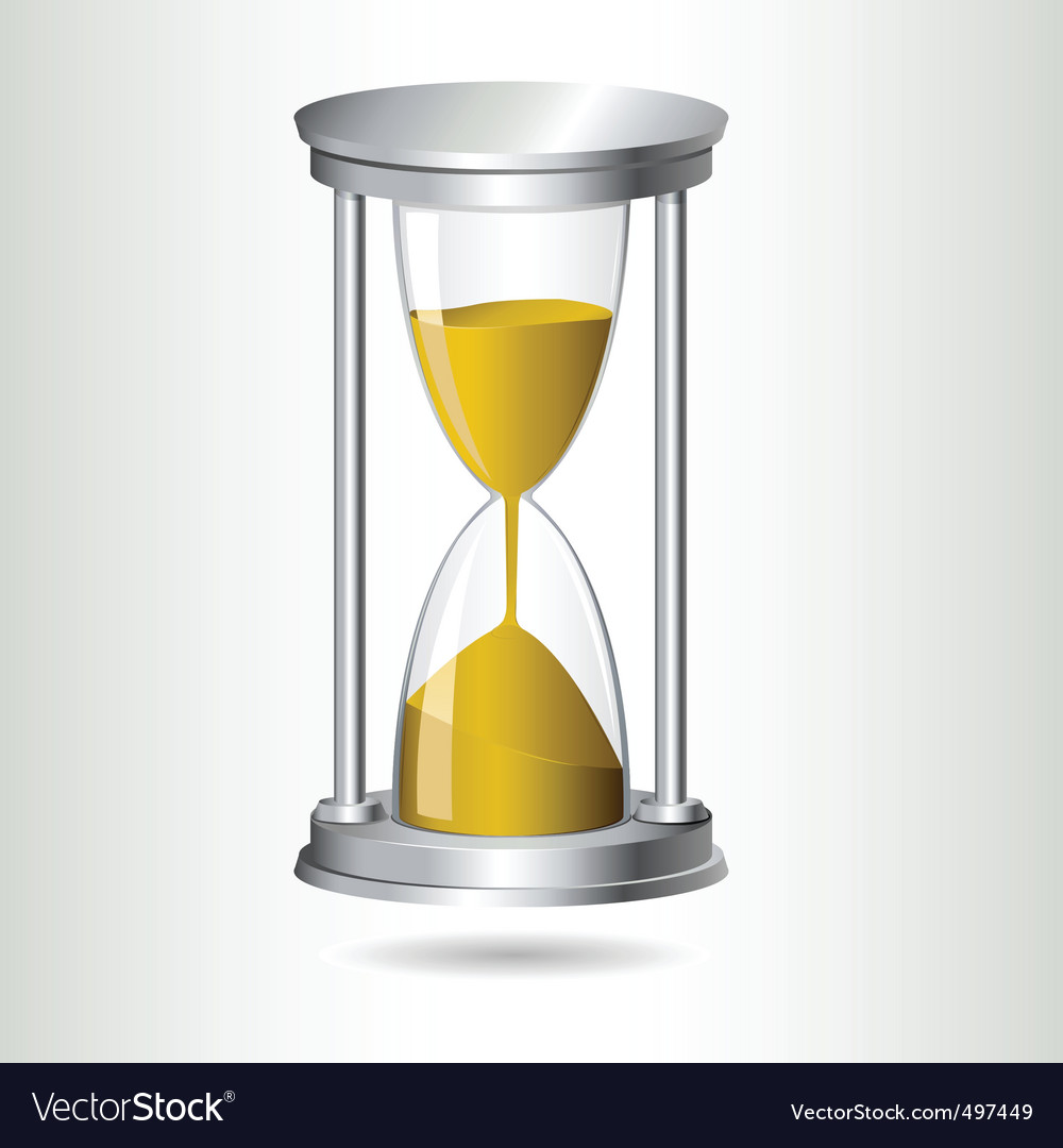Hourglass timer vector | Price: 1 Credit (USD $1)