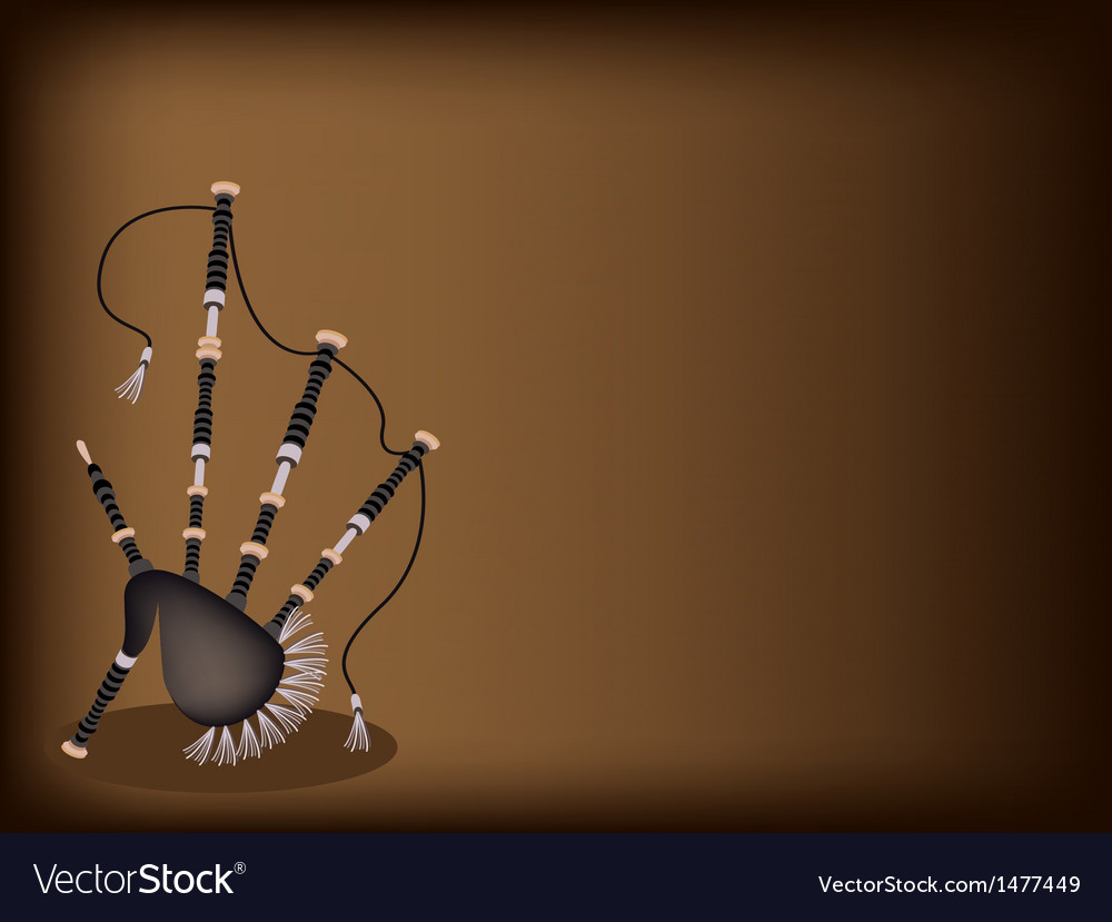 Scottish bagpipe brown background vector | Price: 1 Credit (USD $1)