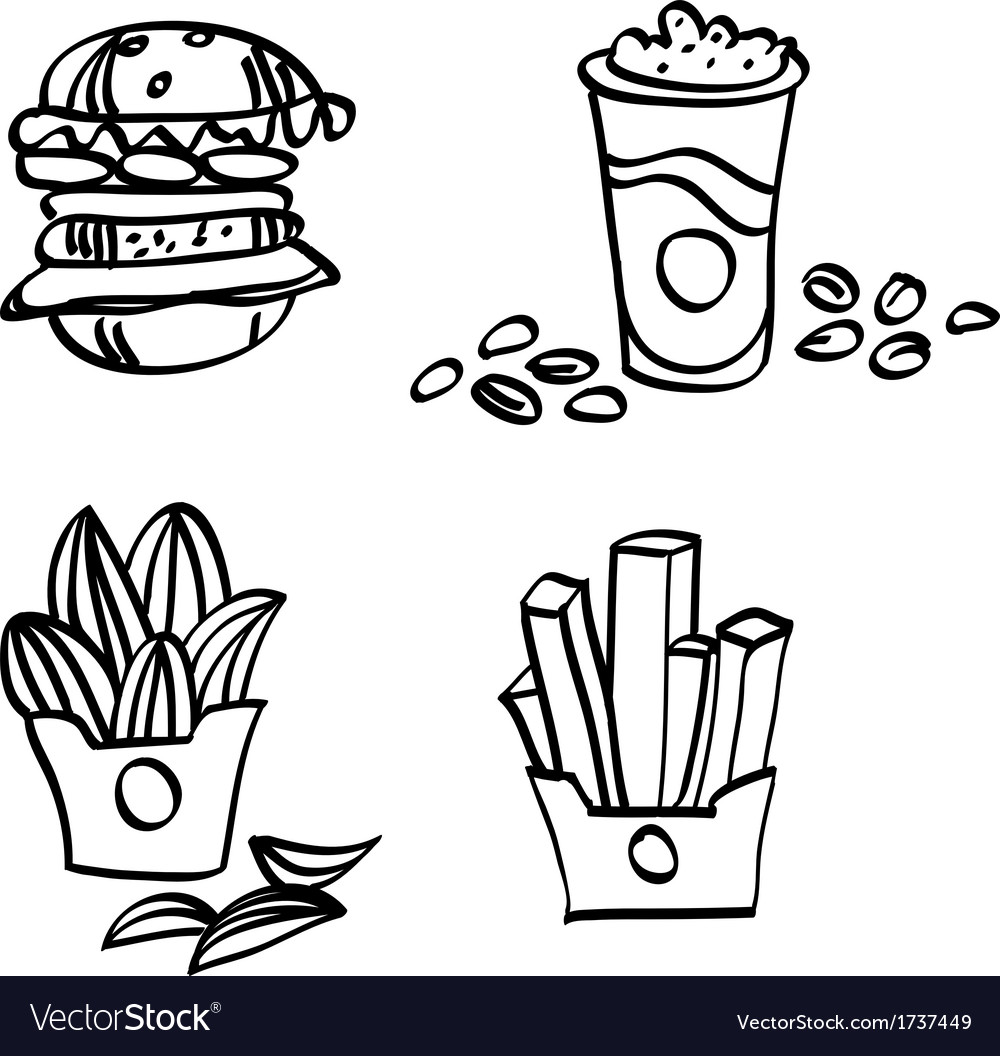 Sketch fastfood vector | Price: 1 Credit (USD $1)