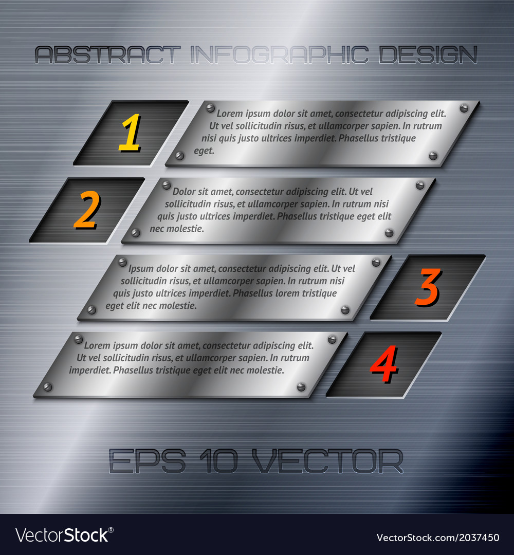 Abstract metal infographics options vector | Price: 1 Credit (USD $1)