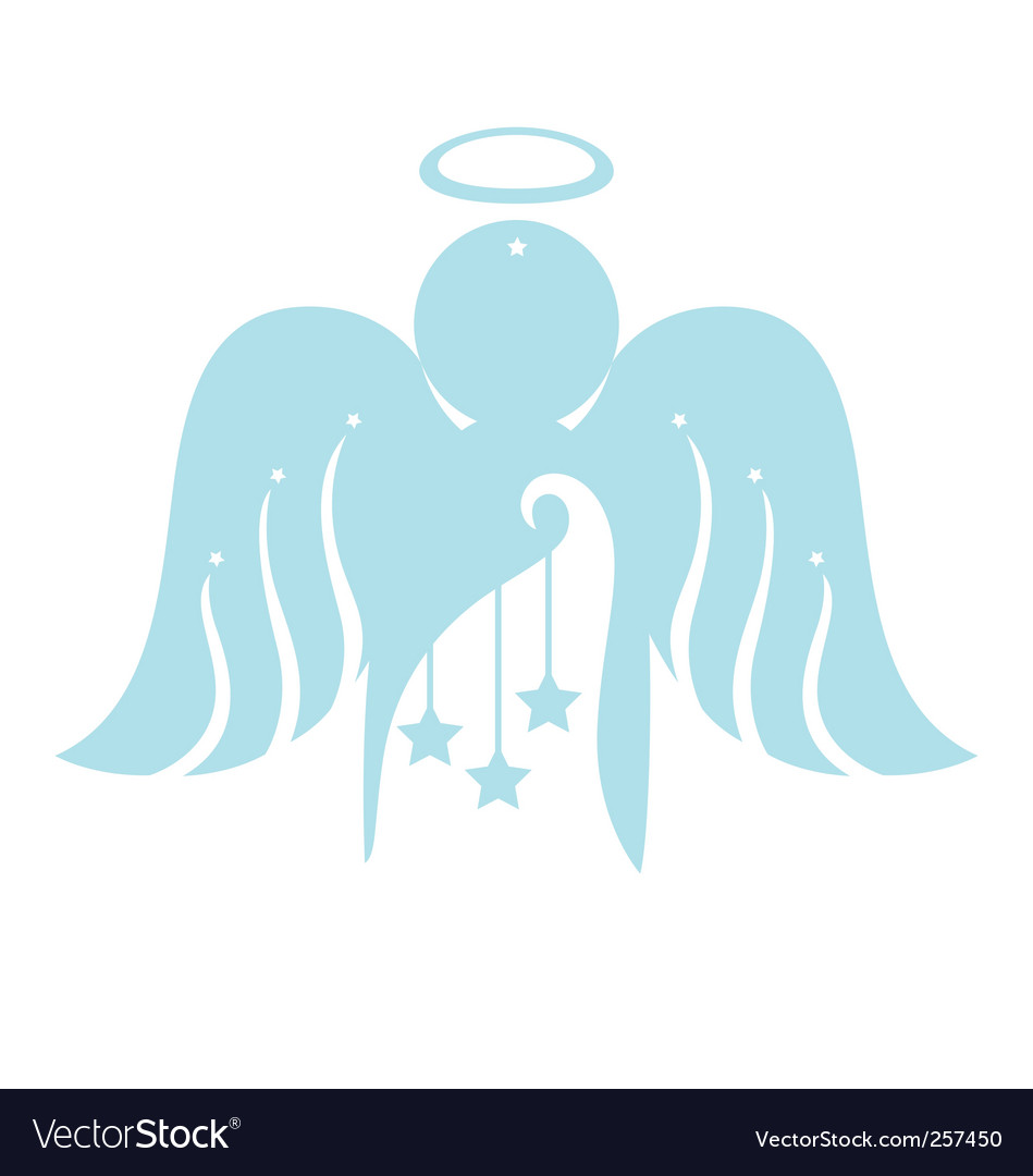 Angel with christmas ornament vector | Price: 1 Credit (USD $1)
